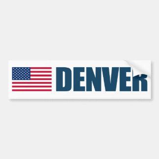 Bandera de Denver los E.E.U.U. Pegatina Para Auto