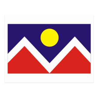 Bandera de Denver Tarjeta Postal