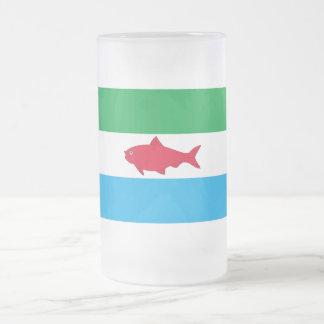 Bandera de Dependencias Federales Taza Cristal Mate