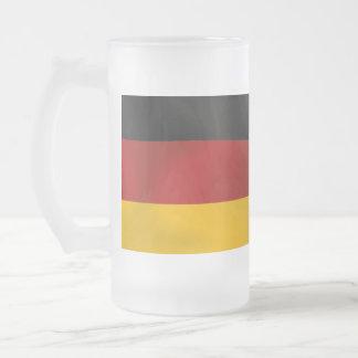 Bandera de Deutschland Alemania Bundesflagge Taza Cristal Mate