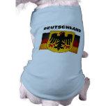 Bandera de Deutschland de la bandera de Alemania d Playera Sin Mangas Para Perro