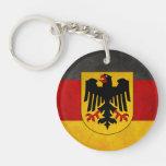 Bandera de Deutschland de la bandera de Alemania Llavero Redondo Acrílico A Doble Cara