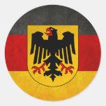 Bandera de Deutschland de la bandera de Alemania Pegatinas Redondas