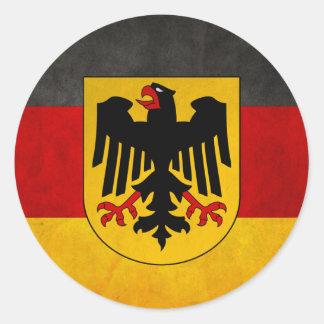 Bandera de Deutschland de la bandera de Alemania Pegatina Redonda