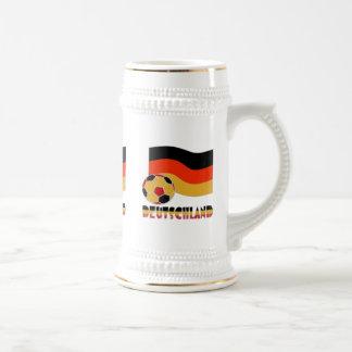 Bandera de Deutschland y frontera del gris del Jarra De Cerveza