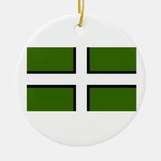 Bandera de Devon Adorno Navideño Redondo De Cerámica
