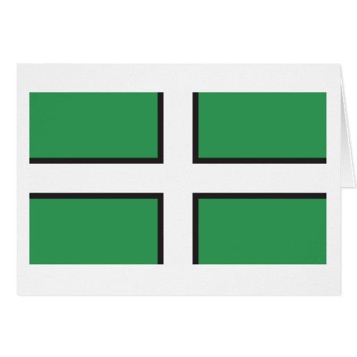Bandera de Devon Tarjetas
