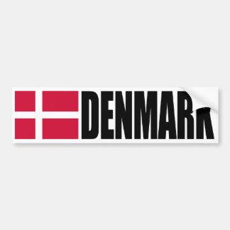 Bandera de Dinamarca Pegatina De Parachoque