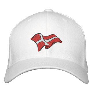 Bandera de Dinamarca de la bandera de Dinamarca Gorro Bordado