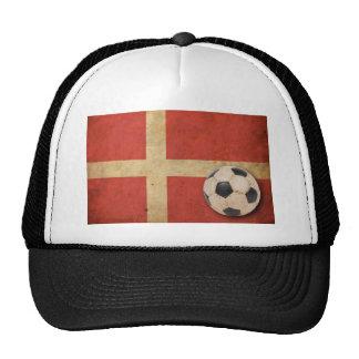Bandera de Dinamarca del vintage Gorra