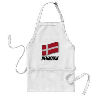 Bandera de Dinamarca, etiquetada Delantal