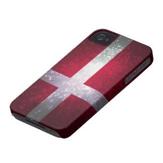 Bandera de Dinamarca iPhone 4 Cárcasa