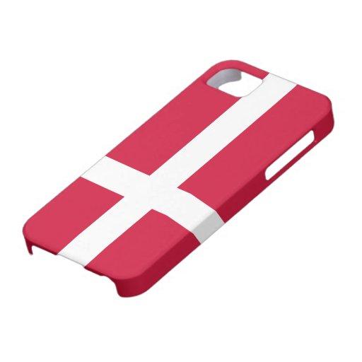 Bandera de Dinamarca iPhone 5 Case-Mate Fundas