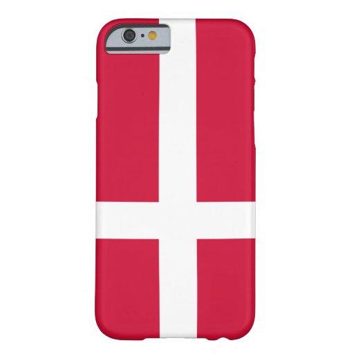 Bandera de Dinamarca Funda De iPhone 6 Barely There