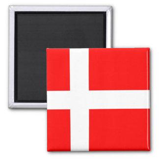 Bandera de Dinamarca Imán Cuadrado