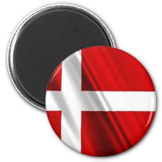 Bandera de Dinamarca Imán De Frigorifico