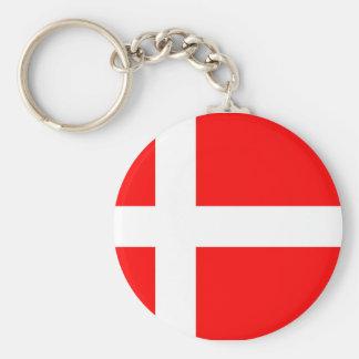 Bandera de Dinamarca Llaveros Personalizados