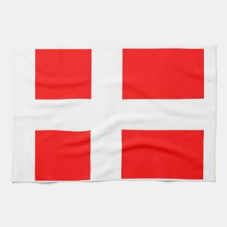 Bandera de Dinamarca Toalla De Cocina