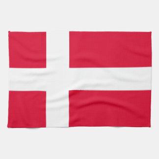 Bandera de Dinamarca Toallas De Cocina