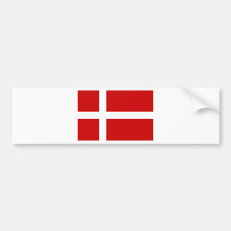 Bandera de Dinamarca Pegatina Para Auto