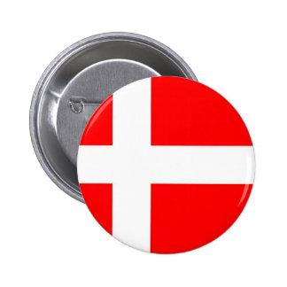 Bandera de Dinamarca Pin Redondo De 2 Pulgadas
