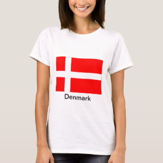 Bandera de Dinamarca Playera