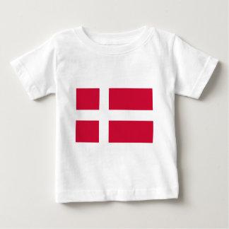 Bandera de Dinamarca Playera De Bebé
