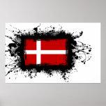 Bandera de Dinamarca Poster