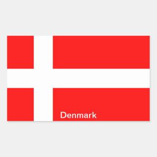 Bandera de Dinamarca Rectangular Pegatinas