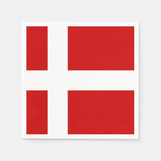 Bandera de Dinamarca Servilleta Desechable