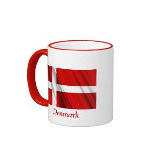 Bandera de Dinamarca Taza A Dos Colores