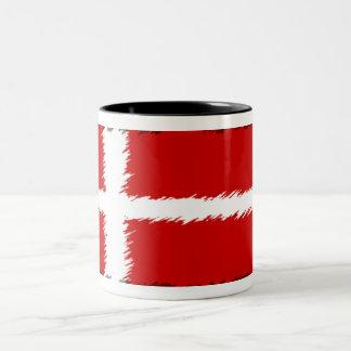 Bandera de Dinamarca Taza De Dos Tonos