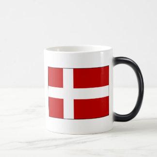 Bandera de Dinamarca Taza Mágica