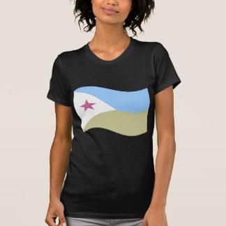 Bandera de Djibouti que agita Camisetas