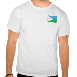 Bandera de Djibouti y camiseta del mapa