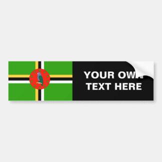Bandera de Dominica Etiqueta De Parachoque