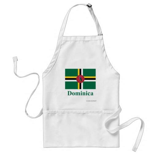 Bandera de Dominica con nombre Delantales