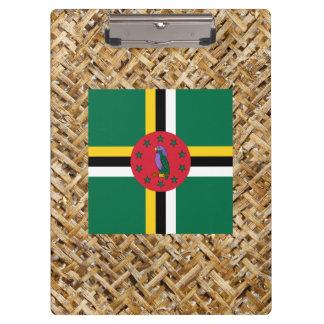 Bandera de Dominica en la materia textil temática