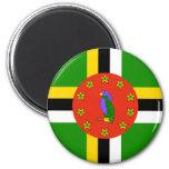 Bandera de Dominica Imán Redondo 5 Cm