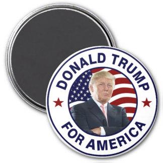 Bandera de Donald Trump los E.E.U.U. Imán Redondo 7 Cm