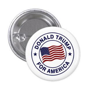Bandera de Donald Trump los E.E.U.U. Pin Redondo 2,5 Cm