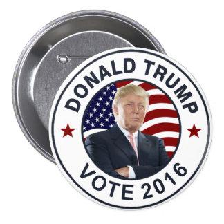 Bandera de Donald Trump los E.E.U.U. Pin Redondo De 3 Pulgadas