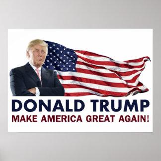 Bandera de Donald Trump los E.E.U.U. Póster