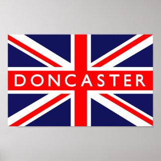 Bandera de Doncaster Reino Unido Poster