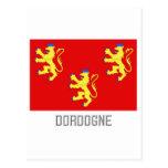 Bandera de Dordoña con nombre Tarjetas Postales