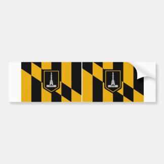 Bandera de DOS Baltimore Pegatina Para Auto