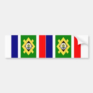 Bandera de DOS Johannesburg Etiqueta De Parachoque