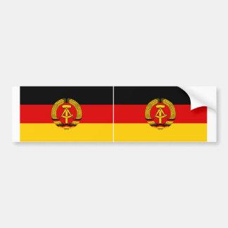Bandera de DOS la Alemania Oriental Pegatina Para Auto
