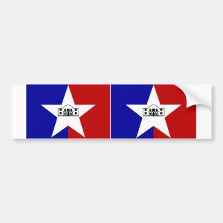 Bandera de DOS San Antonio Pegatina De Parachoque