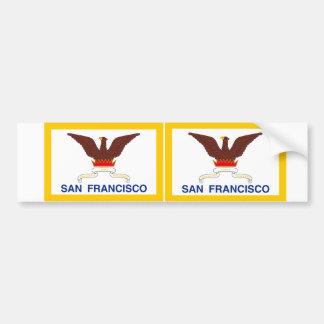 Bandera de DOS San Francisco Pegatina De Parachoque